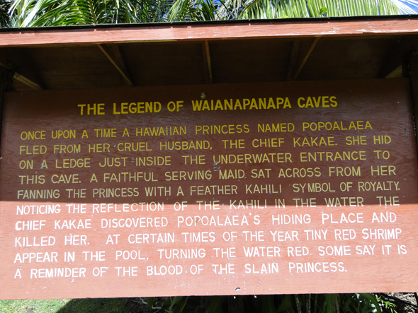 The Legend of Waianapanapa Caves