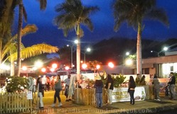 Picture of the Beer and Wine Garden at Wailuku First Friday, Maui, Hawaii.
