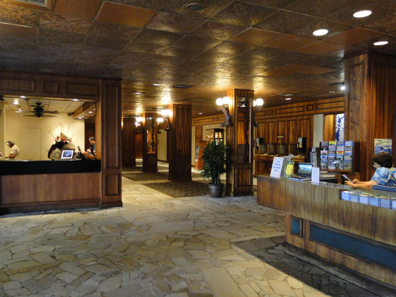 Check-in for the Kaanapali Ocean Inn at the Royal Lahaina Resort lobby