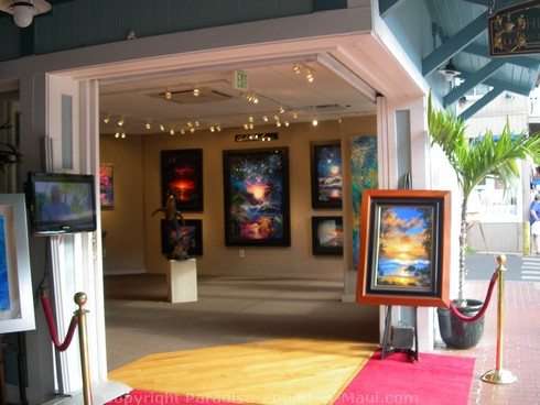 Picture of the entrance to Christian Riese Lassen's art gallery in Lahaina, Maui.