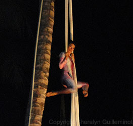 Cirque-style performance at the Grand Wailea Luau