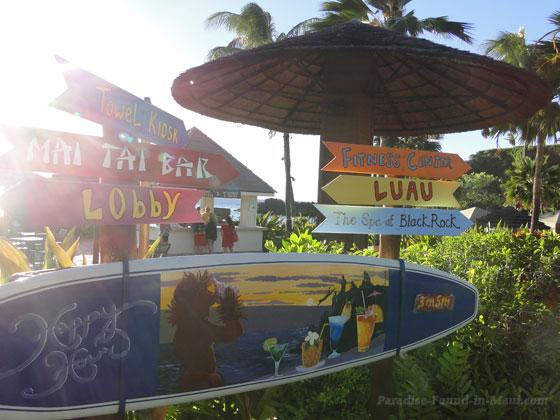 Cool signs at the Sheraton Maui Resort