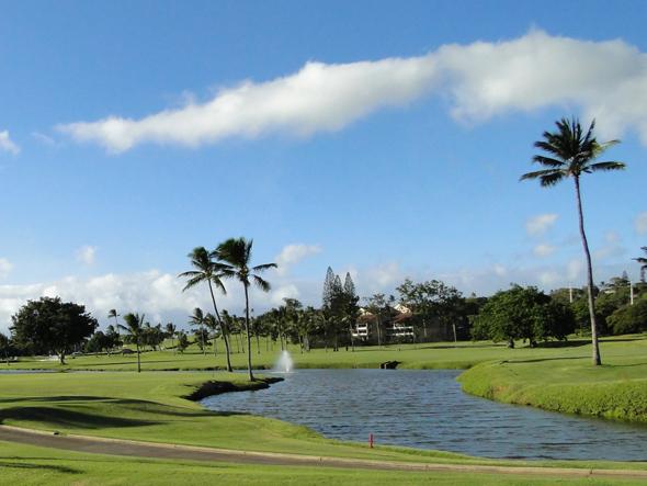 Golf course at Kaanapali Beach Resort Maui