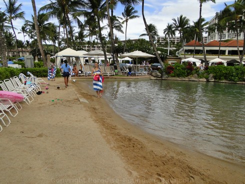 Picture of the man-made Baby Beach at the Grand Wailea Hotel swimming pool..