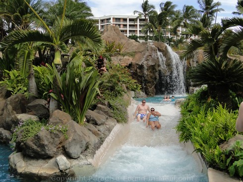 Picture of rapids at the Grand Wailea Hotel pool