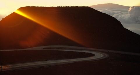 haleakala summit at sunrise