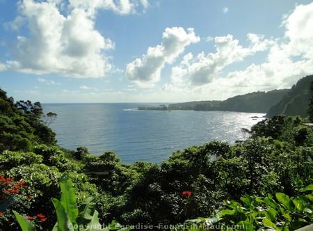Picture of east Maui coastline along the Road to Hana.
