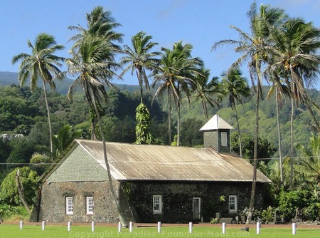 Picture of Keanae Congressional Church.