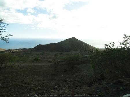 Cinder cone on southeast coast of Maui