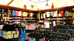 Picture of merchandise at the Honolua Store.