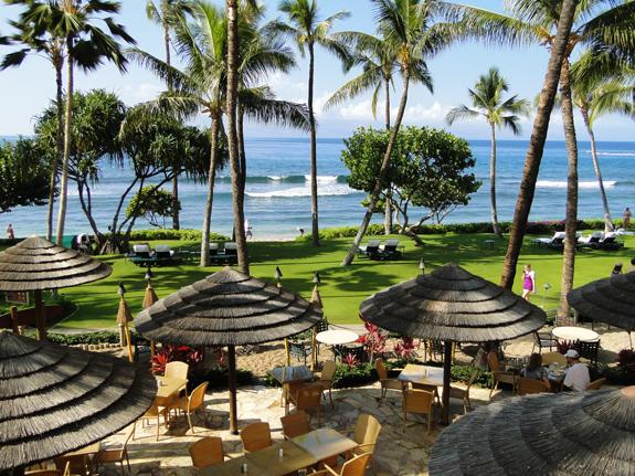 Marriott Maui Ocean Club ocean view dining