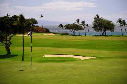 kaanapali beach resort golf course in Maui