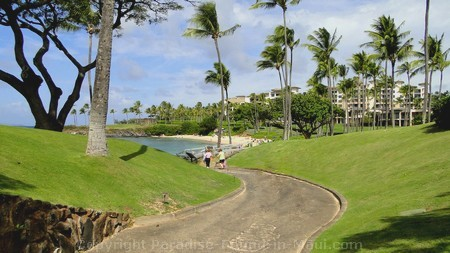 Picture of walkway to Kapalua Beach, Maui, Hawaii.