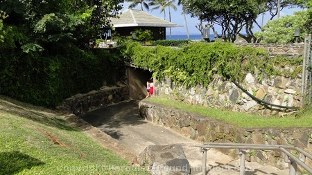 Picture of tunnel to Kapalua Beach, Maui.