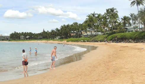Picture of Keawakapu Beach in Wailea, Maui, Hawaii.