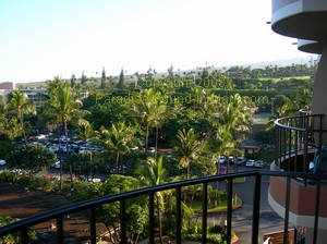 Royal Lahaina Resort Maui, garden view from lanai
