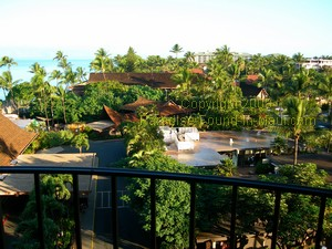 Royal Lahaina Resort Maui view from partial ocean view room
