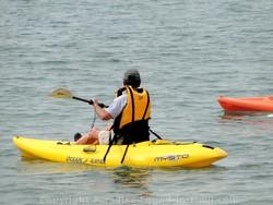 Picture of ocean kayak off Maui, Hawaii.