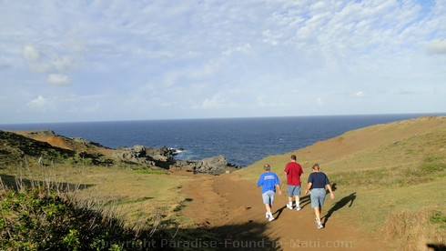 Picture of the hike to the Nakalele Blowhole on Maui, Hawaii