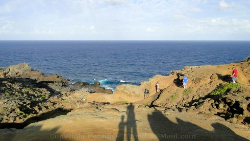 Picture of the hike to the Nakalele Blowhole, on Maui, Hawaii.