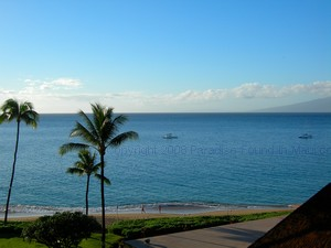Royal Lahaina Resort Maui ocean view from lanai in partial ocean view room