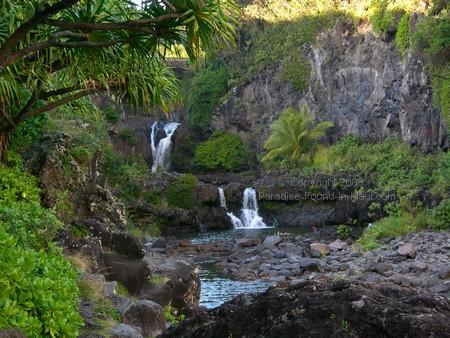 oheo gulch near Hana Maui view of pools and waterfalls