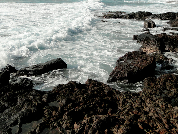 Dangerous Shoreline on the Trail