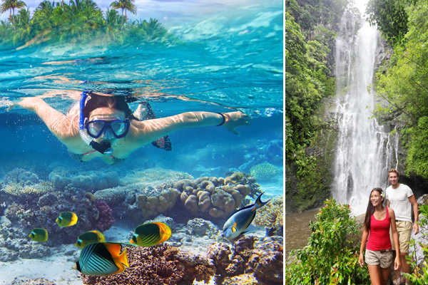 Things to do in Maui include hiking and snorkeling