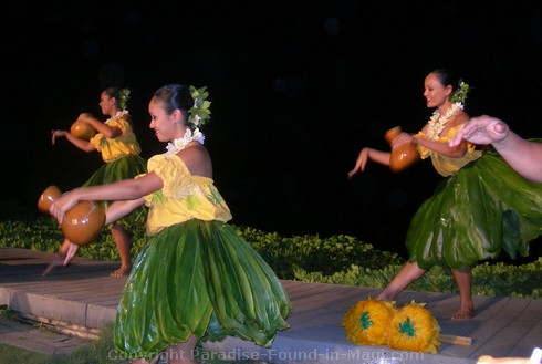 Picture of the Feast at Lele luau dancers.