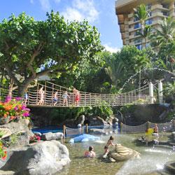 kids at the Hyatt Regency Maui pool