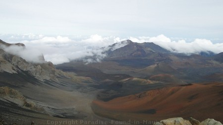 Picture of crater on the Haleakala Volcano near the summit.