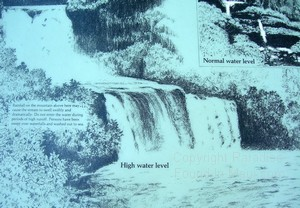 picture of Maui waterfalls warning sign at Oheo Gulch (Seven Sacred Pools) in Hana area
