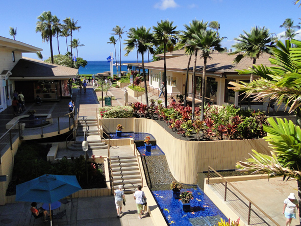 Ocean View from Whalers Village Shopping Center on Maui