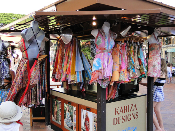 Shopping in the Kaanapali Beach Resort on Maui