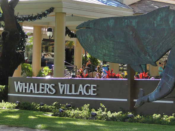 Whalers Village Sign