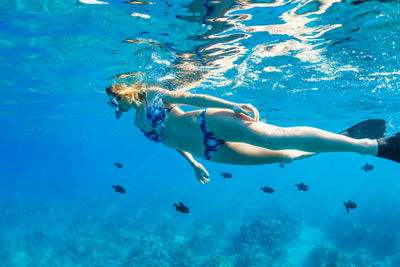 Snorkeling in Maui, Hawaii's warm waters