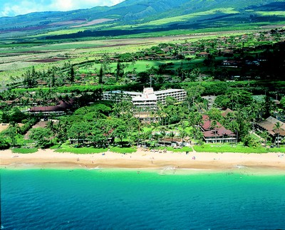 Picture of the aerial view of the Aston Maui Kaanapali Villas in Maui, Hawaii.