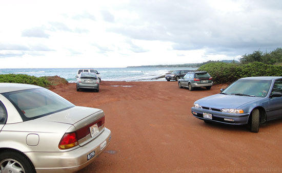 Best place to park for baby beach at Baldwin Beach Park