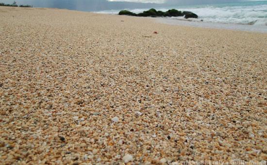 rough sand on the way to Baldwin's Baby Beach on Maui