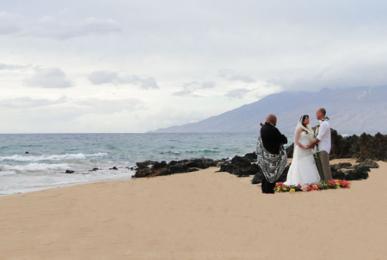 Poolenalena Beach Wedding on Maui
