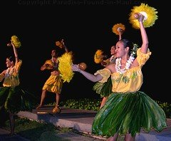 Picture of Hawaiian entertainment at the Feast at Lele, one of the best Maui luaus.