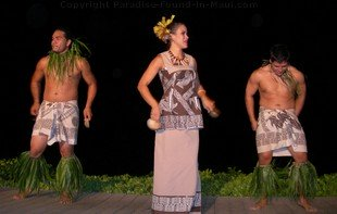 Picture of luau dancers at the Feast at Lele, one of the best Maui luaus.