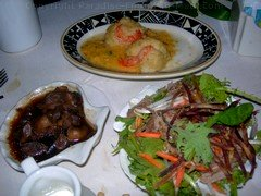 Picture of gourmet food at the Feast at Lele, one of the best Maui luaus.
