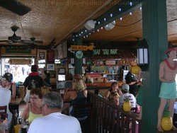 Picture of the interior of thte Cheeseburger in Paradise, Maui, restaurant in Lahaina.