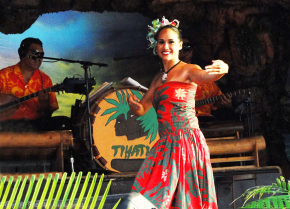 Pre-show hula at Drums of the Pacific Luau