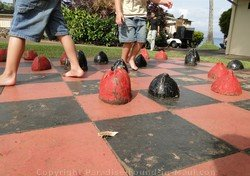 Picture of giant checkerboard at the Napili Shores Resort, Maui.