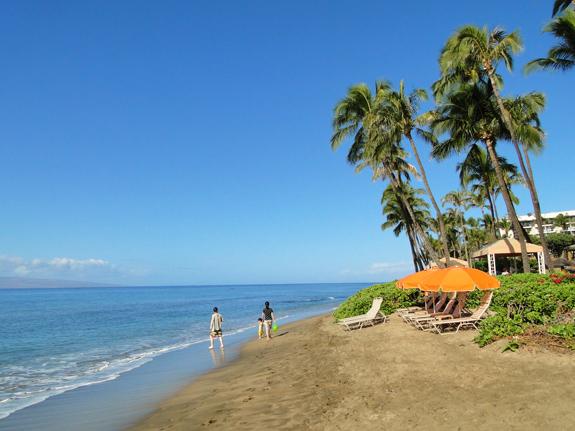 Kaanapali Beach in front of the Hyatt Regency Maui