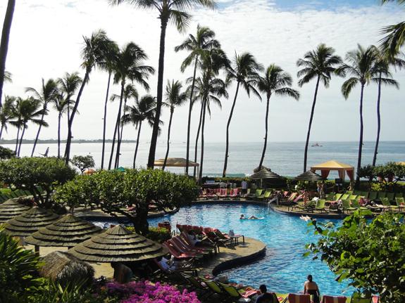 Ocean view from swimming pool at Hyatt Regency Maui