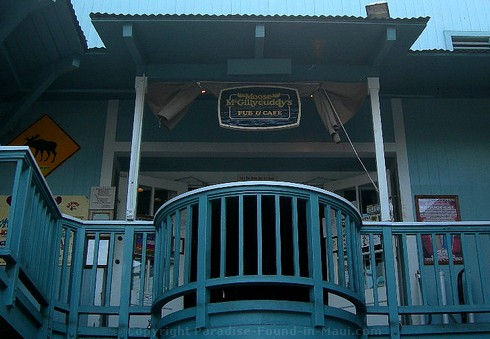 Picture of the entrance to Moose McGillycuddy's, one of the many Lahaina restaurants.