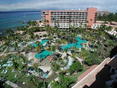 hotels in Maui Marriott Maui Ocean Club aerial view
